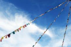 цветастая молитва флагов Стоковые Фото
