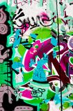 цветастая надпись на стенах Стоковая Фотография