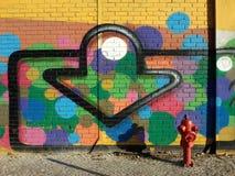 цветастая надпись на стенах Стоковые Фото