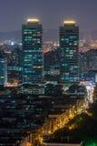 Цветастая ноча города стоковая фотография