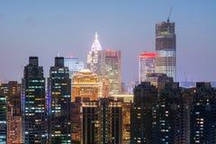 Цветастая ноча города стоковая фотография rf