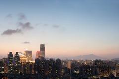 Цветастая ноча города стоковое фото rf