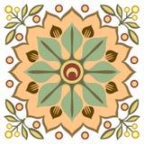 Цветастая орнаментальная предпосылка Стоковое Изображение RF