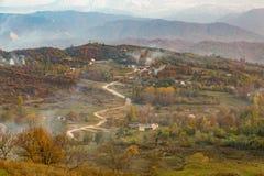 Цветастая осень в горах Стоковое Изображение