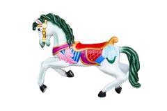 Лошадь Carousel изолированная на белизне Стоковое Фото