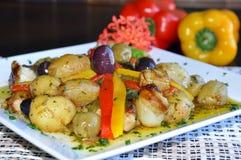 цветастая португалка еды Стоковые Фото