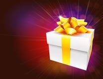 Цветастая предпосылка коробки подарка Стоковые Изображения RF