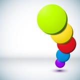 Цветастая предпосылка круга 3D. иллюстрация вектора