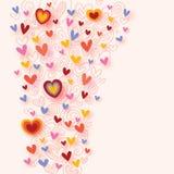 Цветастая предпосылка сердец Стоковая Фотография RF