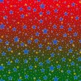 Цветастая предпосылка с звездами. Стоковые Изображения RF