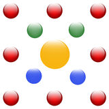 Цветастая предпосылка шариков Стоковое фото RF
