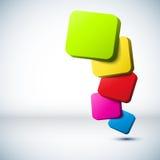 Цветастая предпосылка прямоугольника 3D. Стоковое Изображение