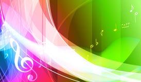 Цветастая предпосылка музыки. Стоковые Изображения