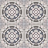 Цветастая предпосылка украшения стены керамических плиток сбора винограда Плитки Лиссабона Стоковое Изображение