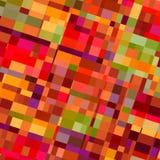 Цветастая предпосылка форм Красные цветы Плитки бумаги стены Виртуальное multi изображение коробки Богато украшенное стекло Плоск Стоковые Изображения RF