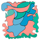 Цветастая проиллюстрированная абстракция также вектор иллюстрации притяжки corel Стоковые Изображения RF