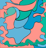 Цветастая проиллюстрированная абстракция также вектор иллюстрации притяжки corel Стоковые Фотографии RF