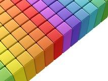 цветастая радуга кубиков Стоковые Изображения RF