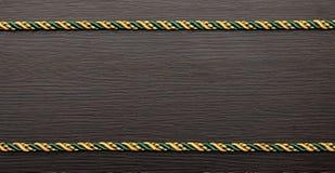 Цветастая рамка веревочки Стоковое Изображение RF