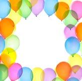 Цветастая рамка воздушных шаров Стоковое Фото