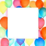Цветастая рамка воздушных шаров Стоковое Изображение RF