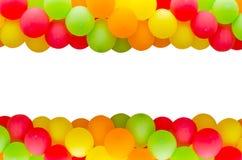 Цветастая рамка воздушных шаров Стоковые Изображения RF