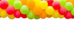 Цветастая рамка воздушных шаров Стоковая Фотография
