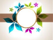 цветастая рамка конструкции ваша Стоковые Изображения