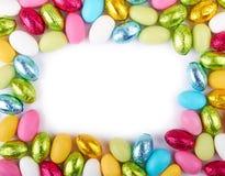 Цветастая рамка пасхальных яя Стоковое фото RF