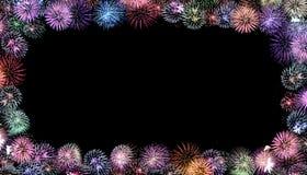 цветастая рамка феиэрверков Стоковое фото RF
