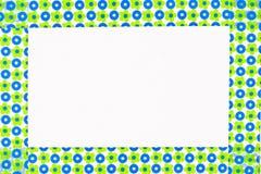 Цветастая рамка цветков Стоковые Изображения RF