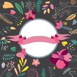 цветастая рамка цветков Стоковое Изображение
