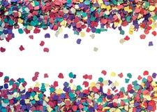 цветастая рамка confetti Стоковое фото RF