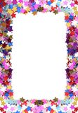 цветастая рамка confetti Стоковая Фотография RF