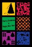 Цветастая рождественская открытка Стоковое Фото