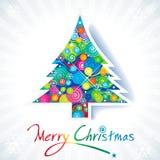 Цветастая рождественская елка Стоковые Фотографии RF