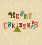 Цветастая рождественская открытка Стоковые Фотографии RF