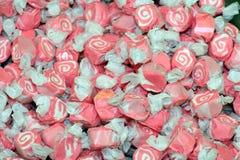 цветастая розовая белизна воды taffy соли Стоковое Изображение
