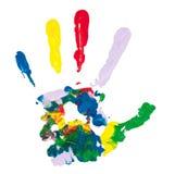 цветастая рука Стоковые Фотографии RF