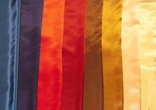 цветастая сатинировка образцов Стоковая Фотография RF
