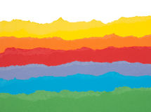 цветастая сорванная бумага Стоковое Фото