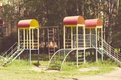 цветастая спортивная площадка оборудования Стоковые Изображения RF
