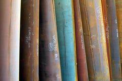 цветастая сталь плиты конструкции Стоковое фото RF