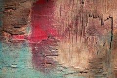 Цветастая старая деревянная предпосылка стены Стоковые Фотографии RF