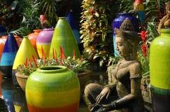цветастая статуя баков Стоковые Фото
