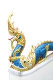 цветастая статуя дракона тайская Стоковая Фотография RF