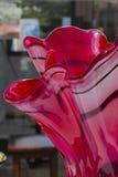 цветастая стеклянная ваза Стоковое Изображение RF