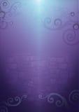 цветастая стена свирли Стоковая Фотография