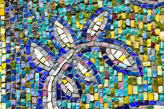 цветастая стена текстуры мозаики листьев Стоковые Изображения