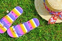 цветастая сторновка шлема flops flip Стоковая Фотография